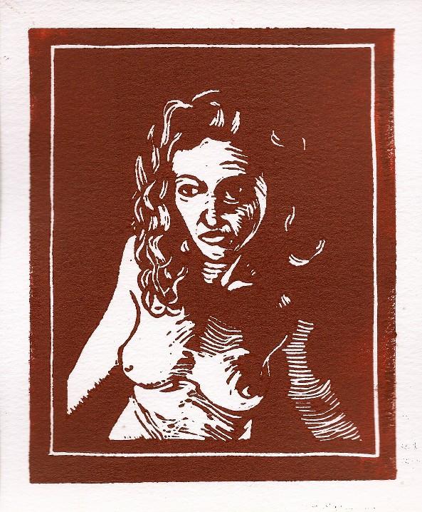 Megaera (Lino Print)